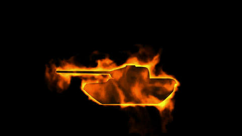 fire tank Stock Video Footage