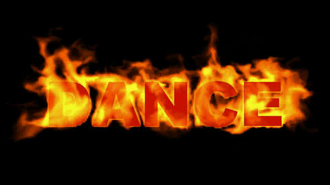 fire dance word,burn text Stock Video Footage