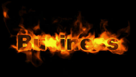 burning business word Stock Video Footage