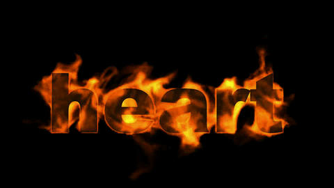 fire heart word Stock Video Footage