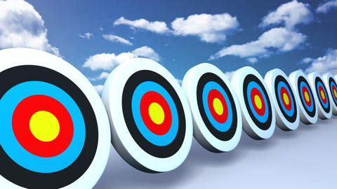 targets and arrows color sky Stock Video Footage