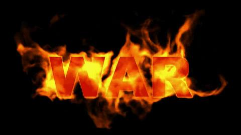 fire war text,fire word Stock Video Footage