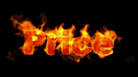 burning price text,hot sale Stock Video Footage