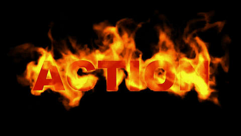 action text,burning business fire word Animation