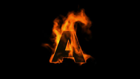 fire letter A Stock Video Footage