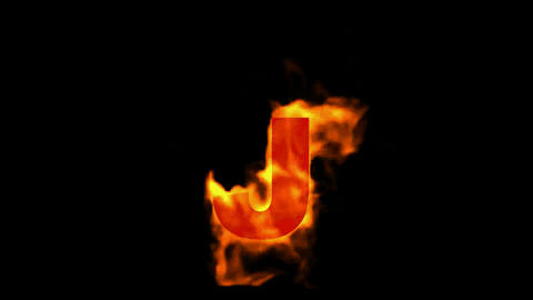 fire letter J Stock Video Footage