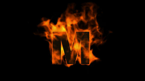 fire letter M Animation