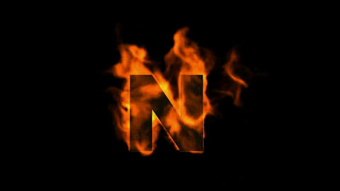 fire letter N Animation