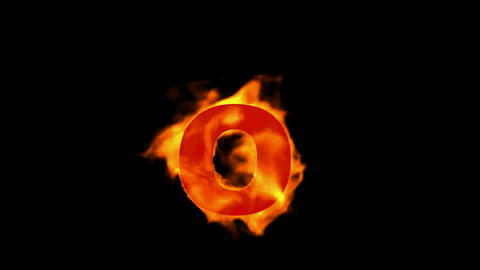 fire letter O Stock Video Footage