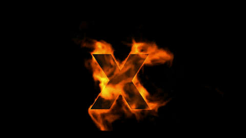 fire alphabet X Stock Video Footage