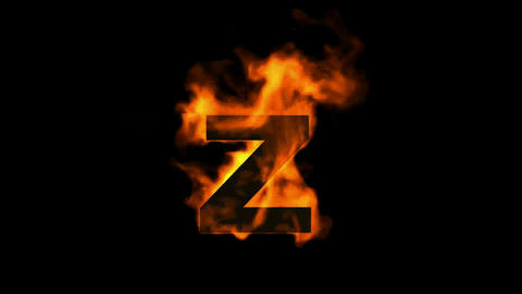 fire alphabet Z Stock Video Footage