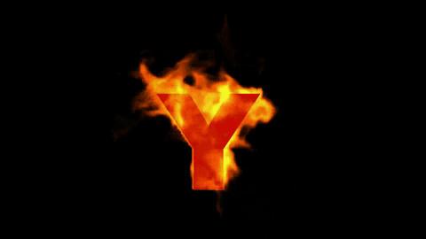 fire alphabet Y Stock Video Footage