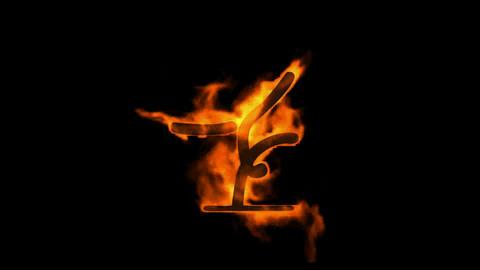 burning fire gymnast symbol Stock Video Footage