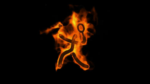 burning badminton sportman silhouette Stock Video Footage