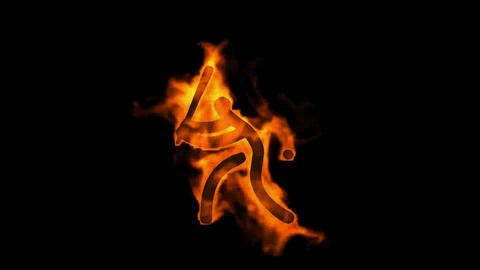 burning baseball sportman silhouette Stock Video Footage