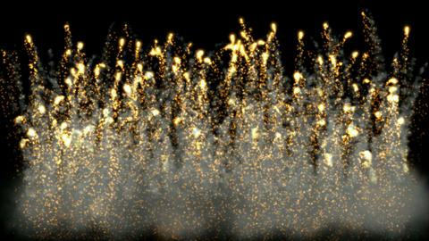 Golden Fireworks and smoke.Military,arms,war,signal... Stock Video Footage
