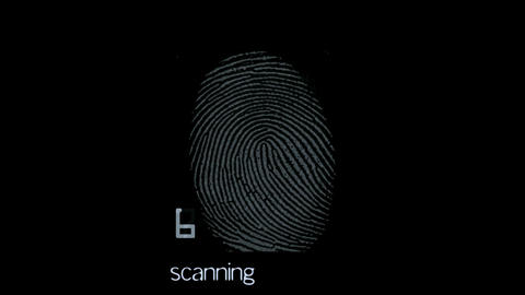 fingerprint identity password scan,tech medical X-ray scanning software Animation
