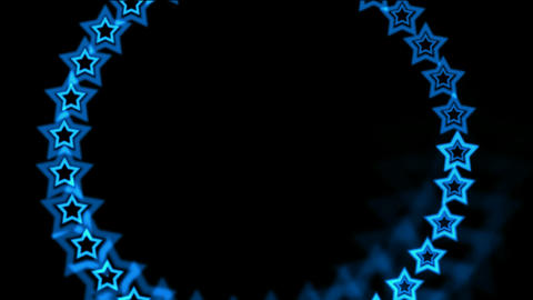 blue stars made up of... Stock Video Footage