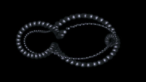 3d metal balls annulus,DNA chain Stock Video Footage