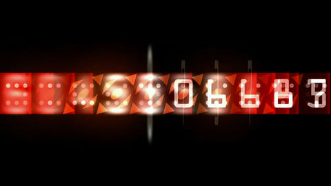 group of number,red finance digital... Stock Video Footage