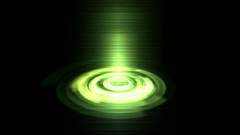Rotation tech interface,3d time tunnel emission plate and... Stock Video Footage