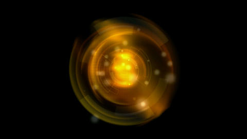 golden dynamic light ball in 3D... Stock Video Footage