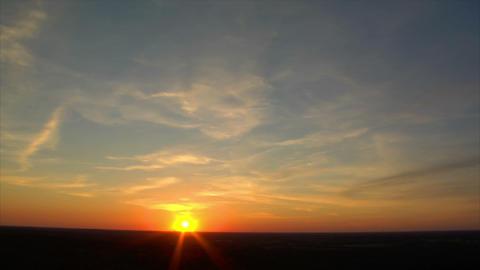 10692 sundown super wide time lapse Stock Video Footage