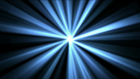 blue rays laser light in space,flare sunlight Animation