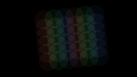 color circle slowly moving Stock Video Footage