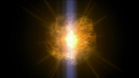 burn sun,golden nebula and whirl laser,energy tech... Stock Video Footage
