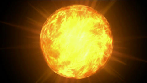 burn sun and fire at space,golden nebula and whirl laser,energy tech background Animation