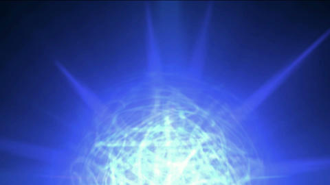 disco neon mirror ball,blue nebula and whirl cable fiber... Stock Video Footage