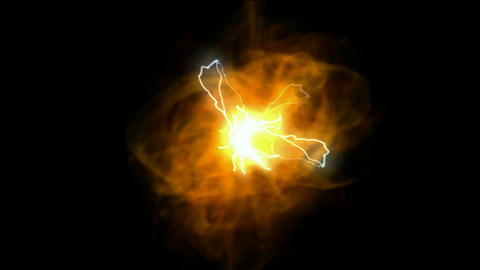 fireball and lightning,solar,Cosmic energy,universe explosion Animation