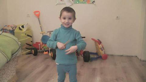 boy crash ball Stock Video Footage