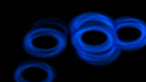 shine blue circle and water ripple in pond Stock Video Footage