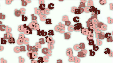 cartoon letter paper card matrix background,alphabet abc,computer screen Animation