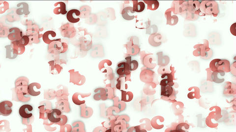 cartoon letter paper card matrix background,alphabet... Stock Video Footage