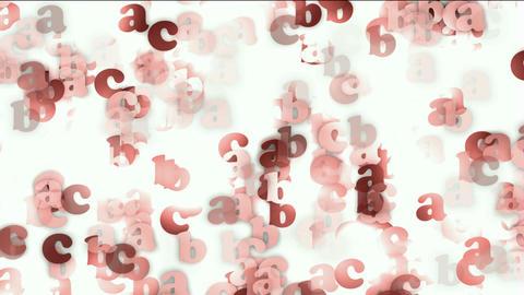 cartoon letter paper card matrix background,alphabet... Stock Video Footage