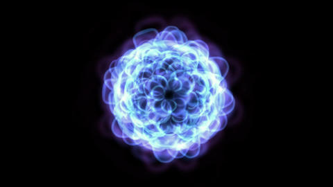 blue flower and light,east lotus,wedding... Stock Video Footage