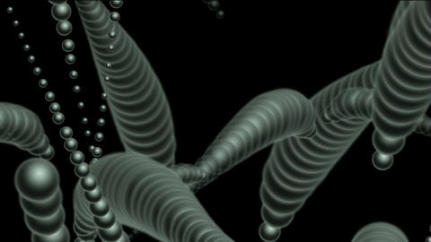 3d rotation metal balls,earthworm,cell,worm Stock Video Footage