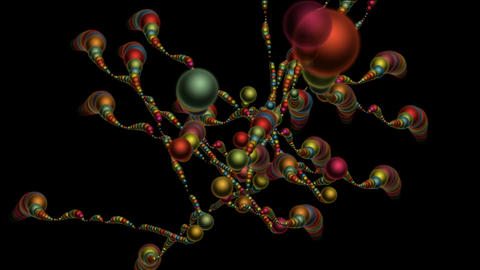 3d color metal balls chain,cell,balloon,chrismas,xmas Stock Video Footage