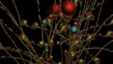 3d Color Metal Balls Chain,cell,balloon,chrismas,xmas stock footage