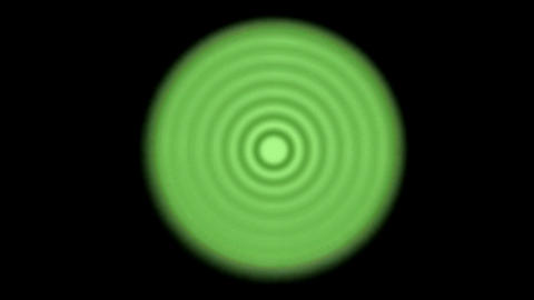green circle round tunnel,water ripple on lake surface,energy pulse field Animation