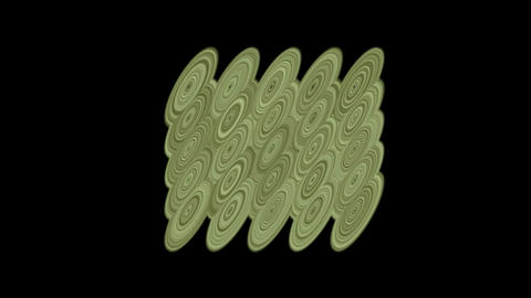 moving metal circle pulse,water ripple and cloud,eastern... Stock Video Footage