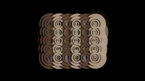 rotation brown circle ripple cloud pattern,Eastern classical mosaics texture,round paper cut Animation