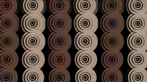 rotation brown circle ripple cloud pattern,Eastern... Stock Video Footage