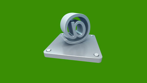 3d icons green 2 Stock Video Footage
