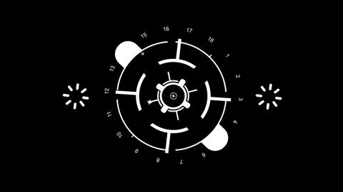2d icon, sight and indicator Stock Video Footage