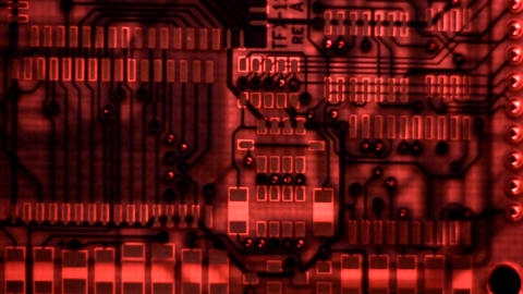 Circuit Inner layers; in red light Footage
