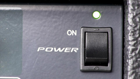 Power button turn on/off; powered audio mixer Live Action